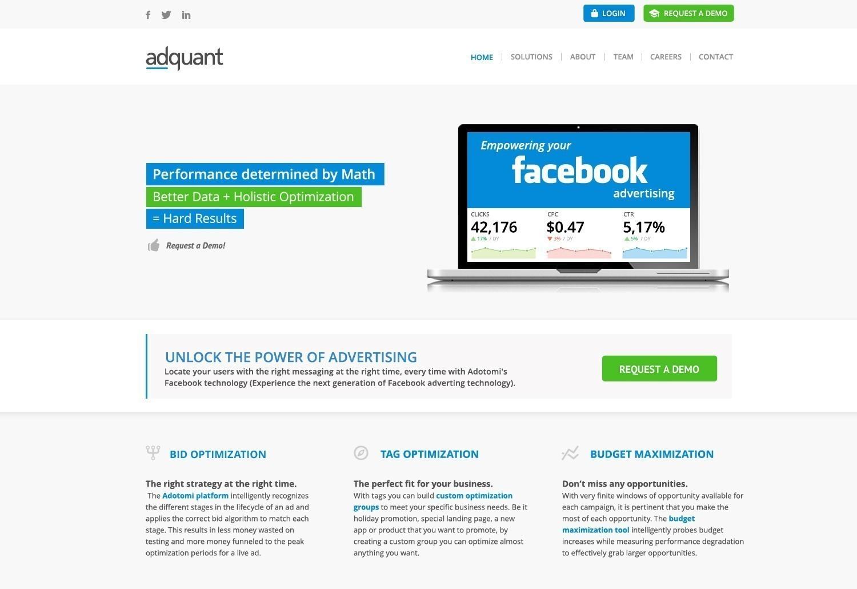 Presentatie website adquant