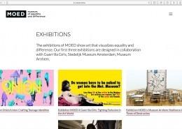 Impressie pagina exposities website MOED Museum