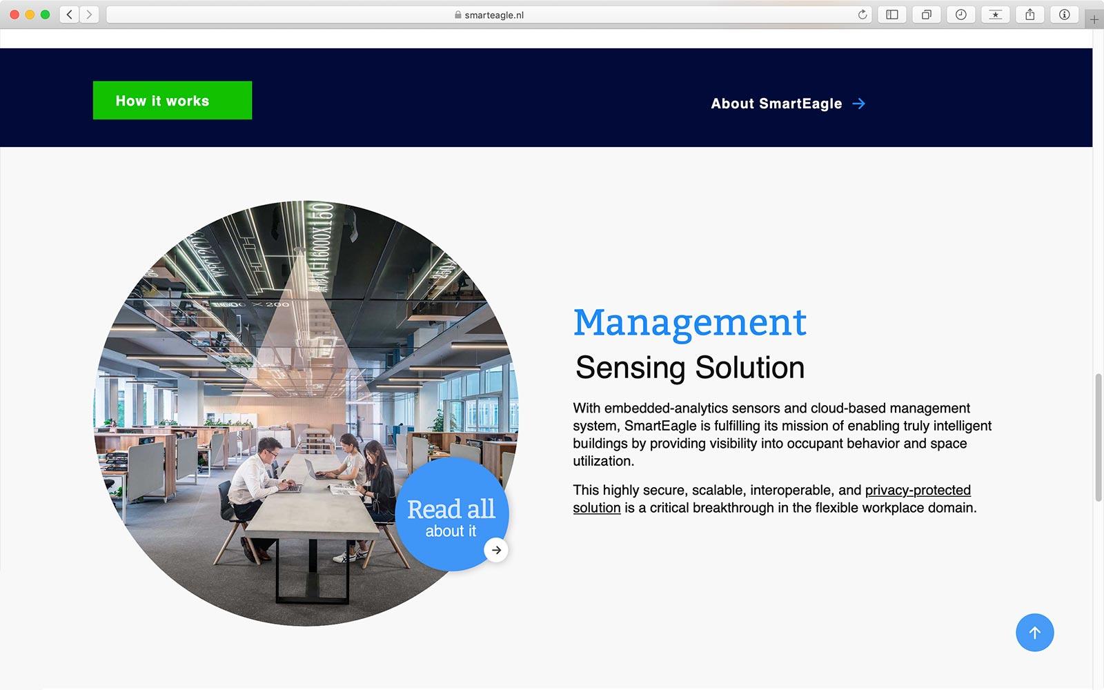Startpagina website SmartEagle