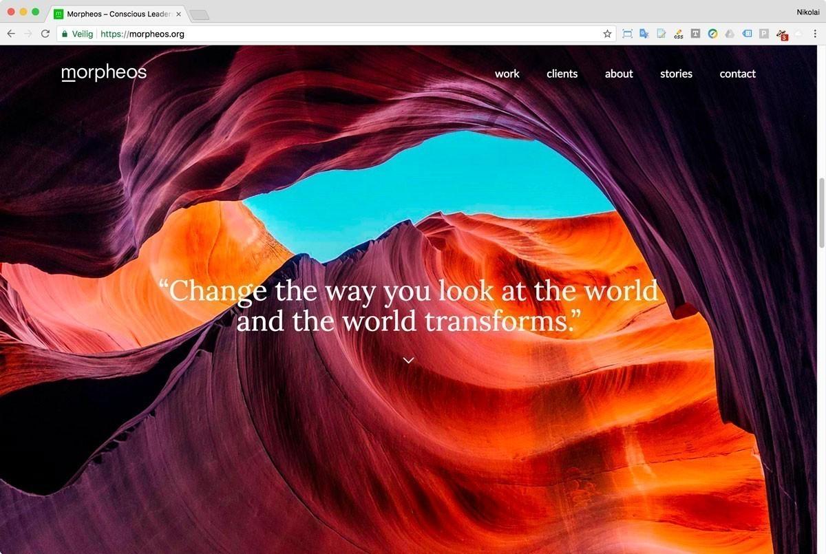 03 Website Morpheos - Startpagina