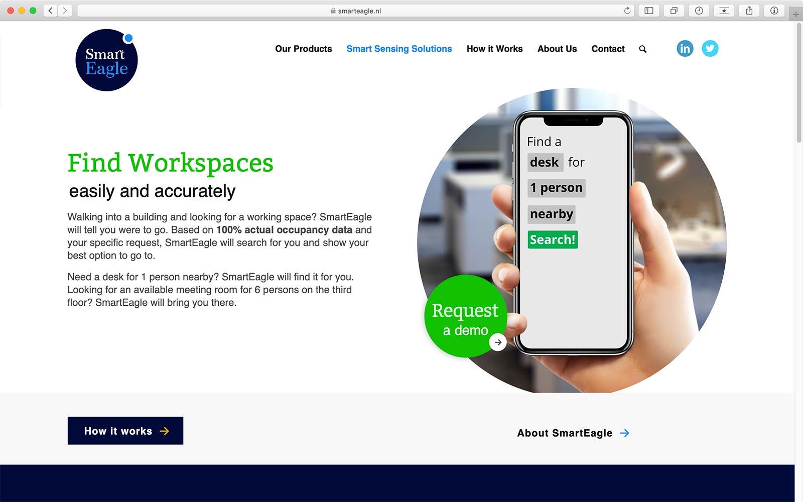 Solutions pagina website SmartEagle