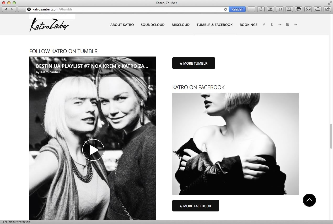 Website DJ Katro - Webdesign Amsterdam