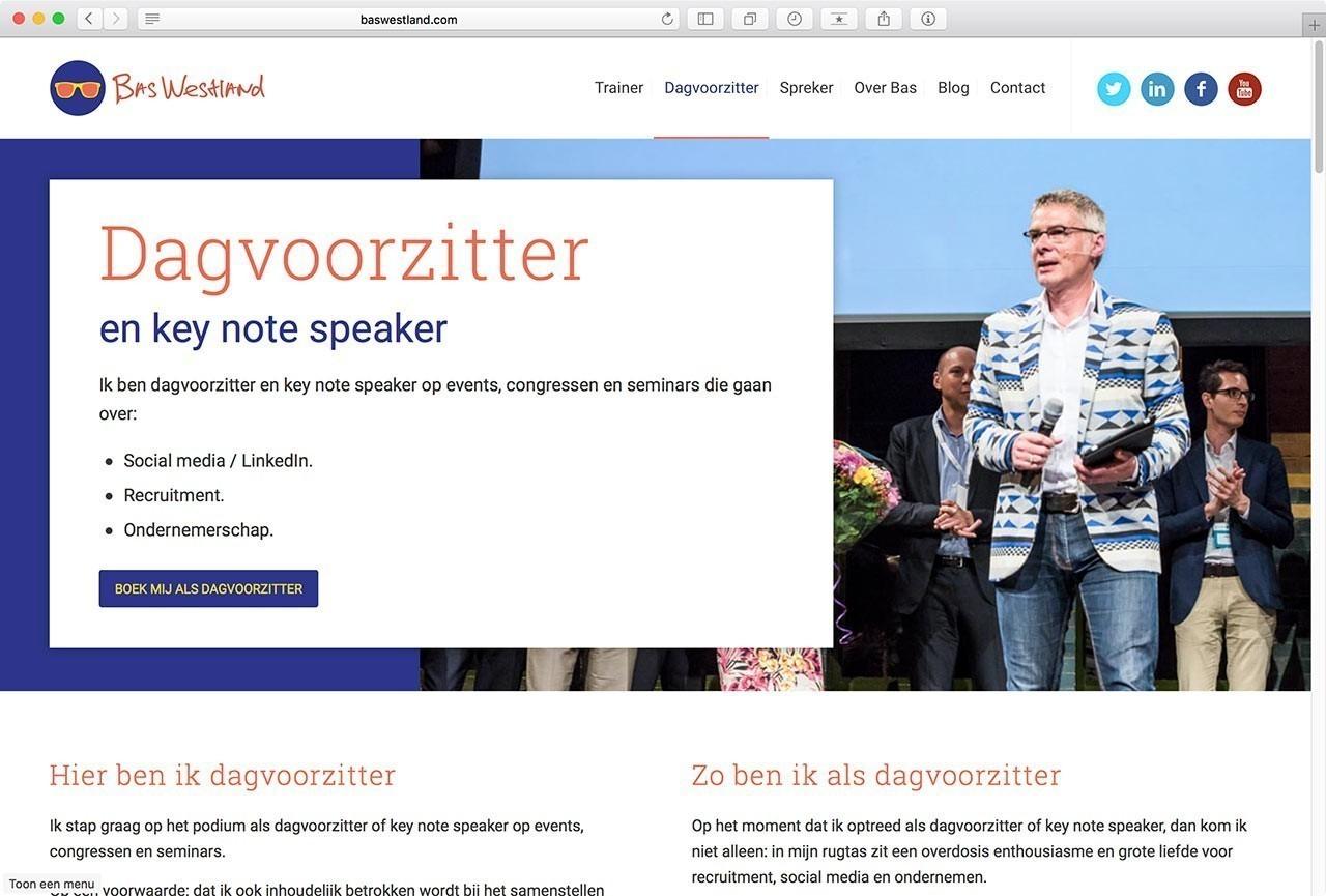 04 Website Bas Westland - Dagvoorzitter