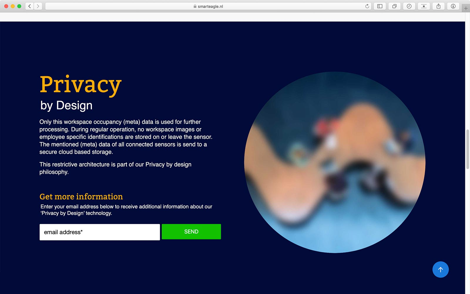 Privacy by Design - website SmartEagle