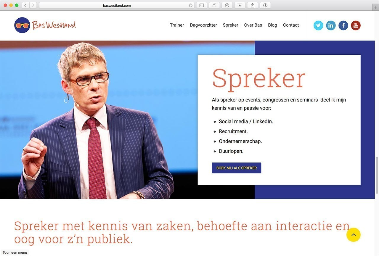 05 Website Bas Westland - Spreker