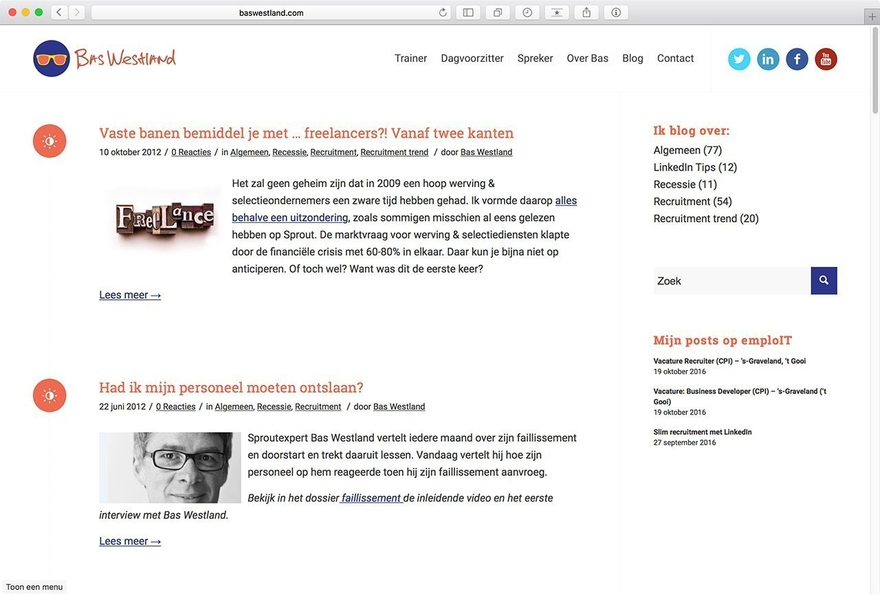08 Website Bas Westland - Blog