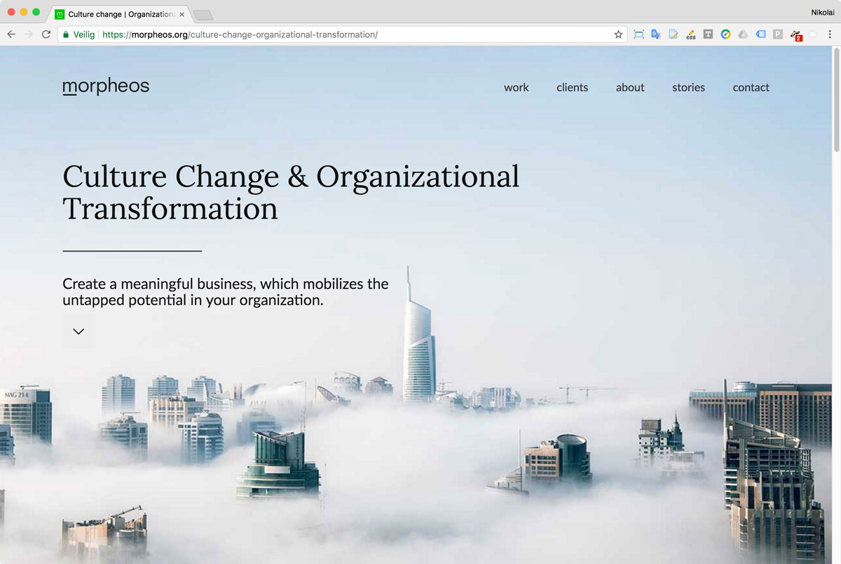 08 Website Morpheos - Pagina Work