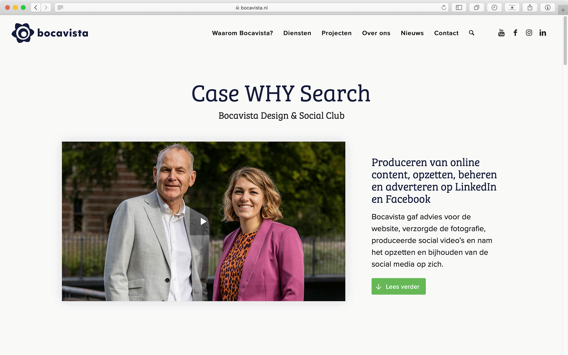Impressie Case pagina website Bocavista