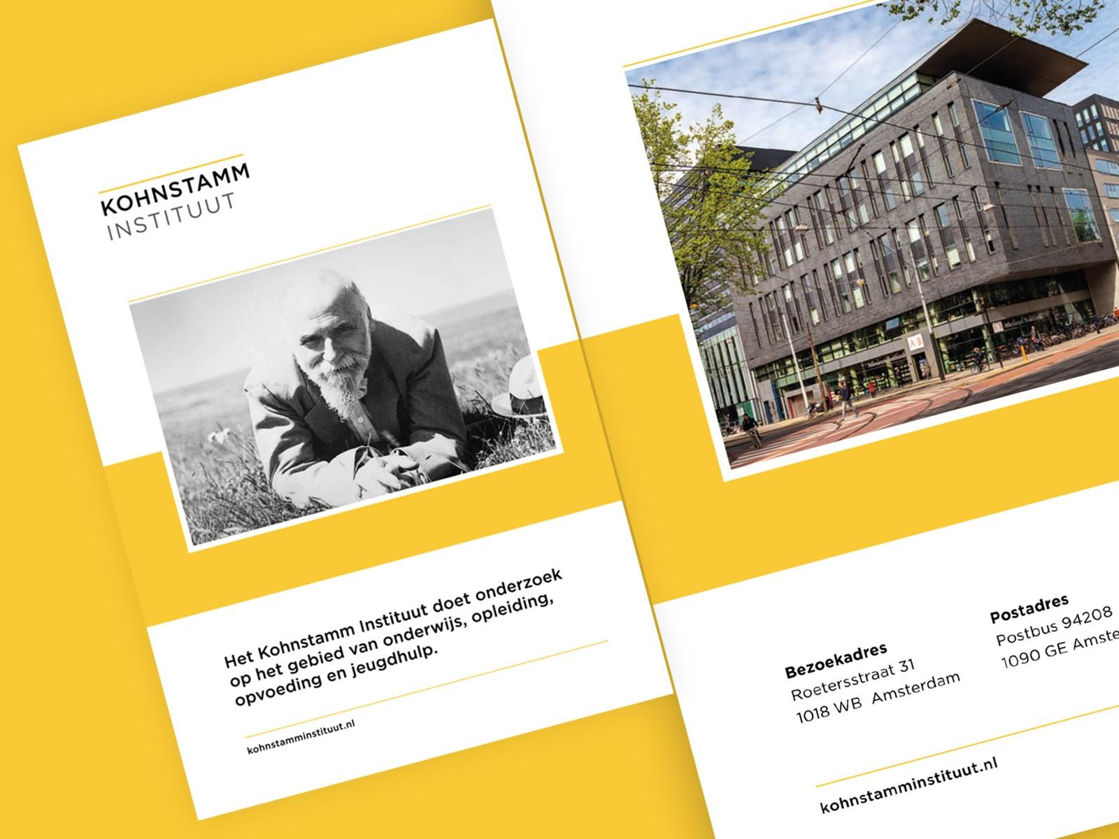 Brochure Kohnstamm Instituut - Voor- en achterkant
