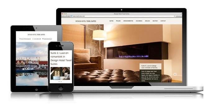 Ontwerp en bouw responsive website voor Texel Suites