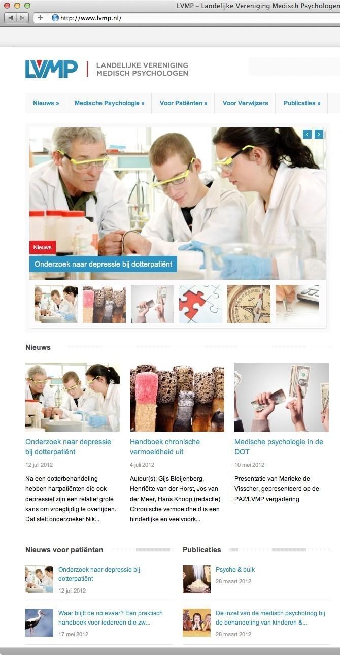 LVMP Impressie startpagina website