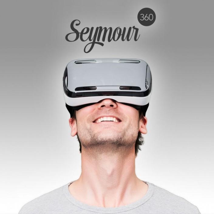 Ontwerp logo, huisstijl en website voor Seymour360