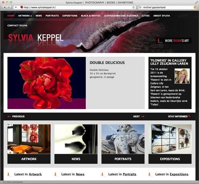 Startpagina website Sylvia Keppel