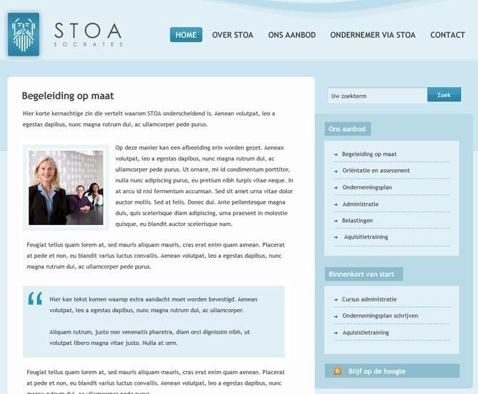 contentpagina Stoa website