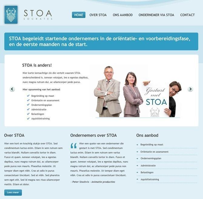 startpagina Stoa website