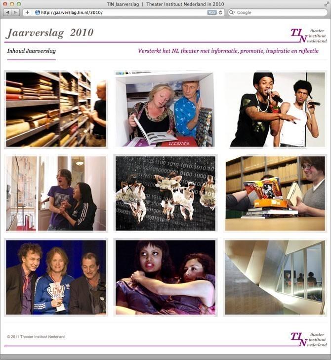 Het digitale Jaarverslag 2010 van TIN