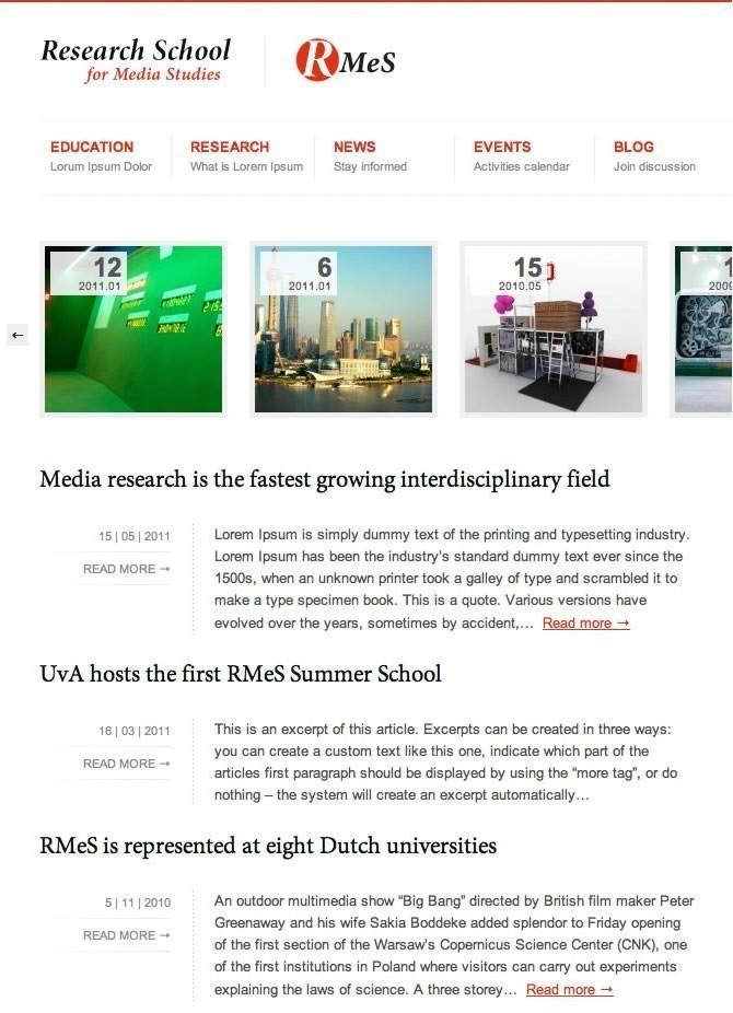 Research school for Media Studies (RMeS)