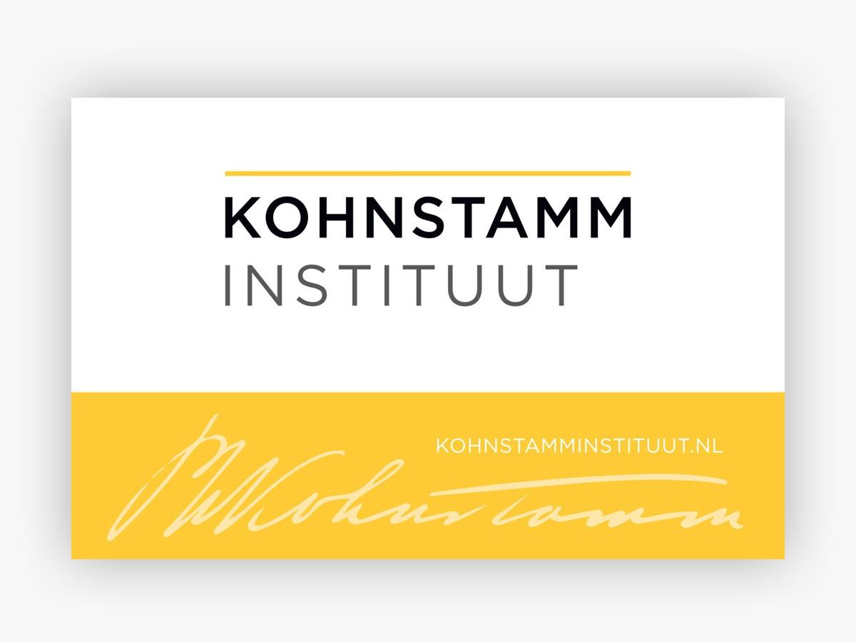 Visitekaartjes Kohnstamm Instituut - Achterkant
