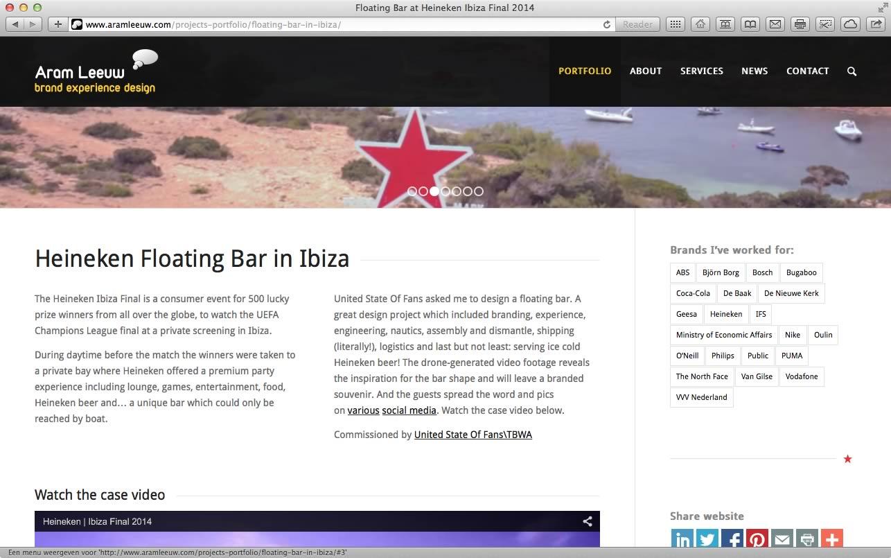 Website Aram Leeuw Brand Experience Design 04