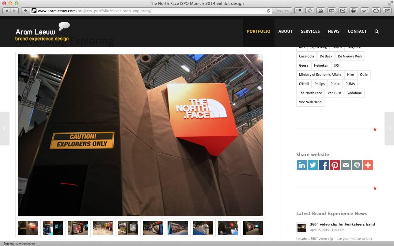 Website Aram Leeuw Brand Experience Design 06