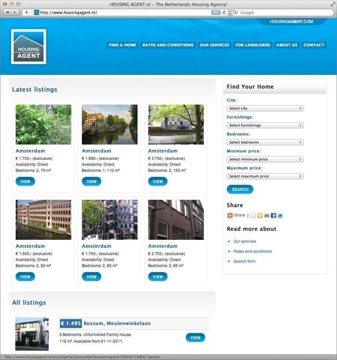 Website Housing Agent Nederland