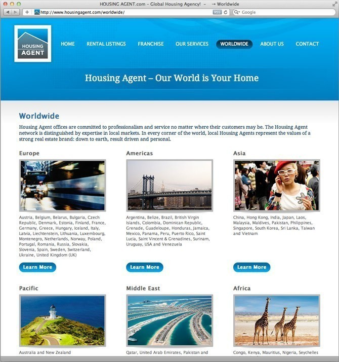 Website Housing Agent Worldwide