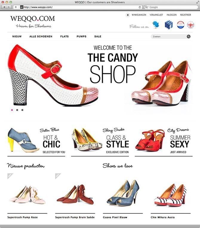 Weqqo.com - Impressie startpagina