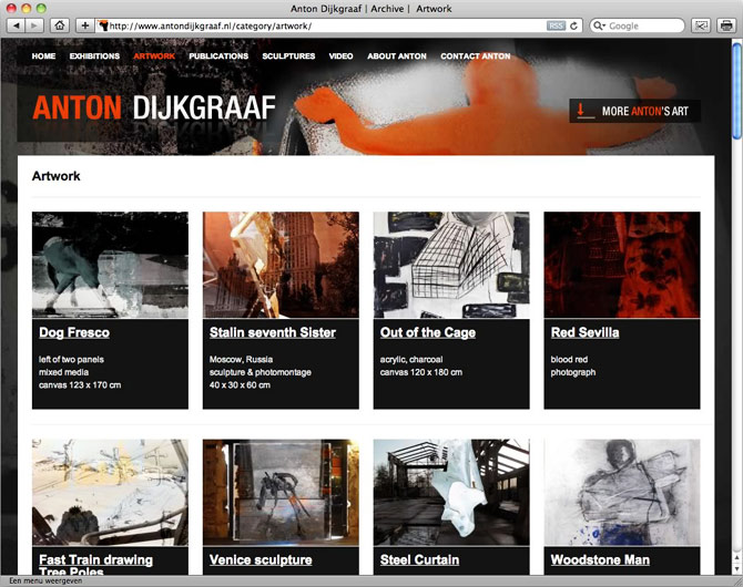 gallery pagina website Anton Dijkgraaf