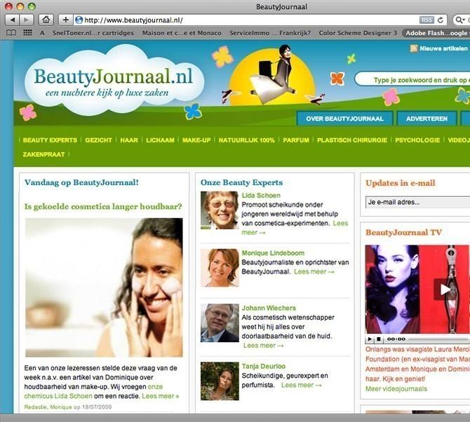 fragment website  beauty journaal