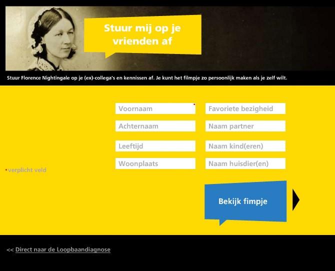 startpagina website mail van Florence Nightingale