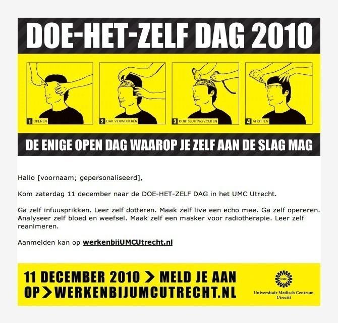 e-mailling do het zelf dag UMC Utrecht
