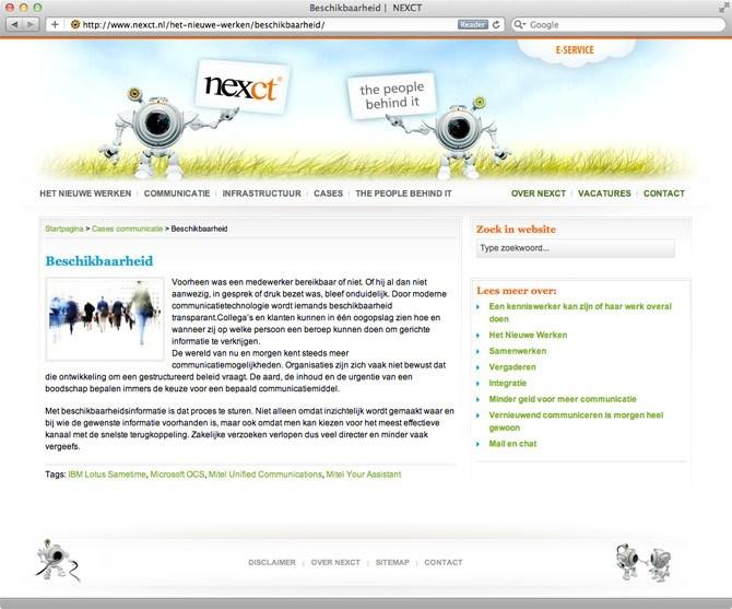 pagina website NEXCT