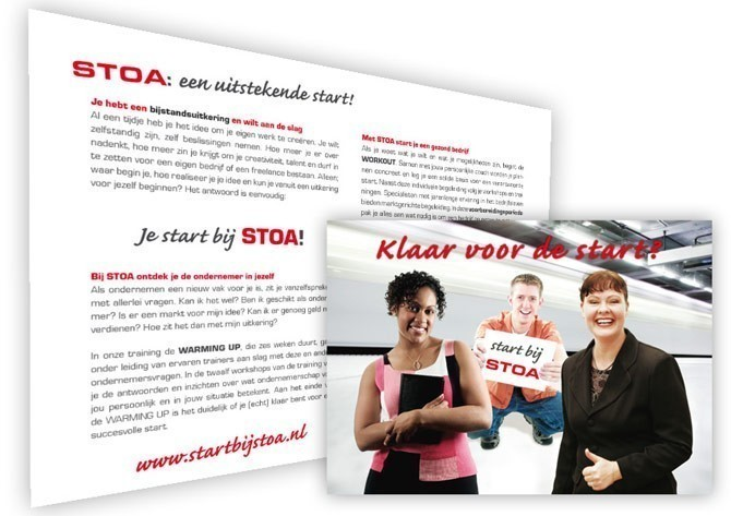 "Flyer ""Start bij STOA"""